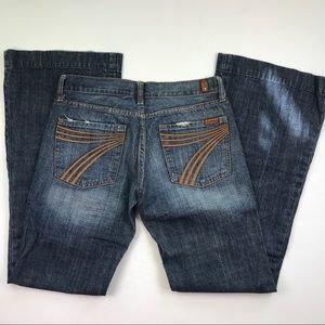 7 For All Mankind Dojo Flare Leg Blue Jeans Sz 27